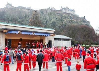 Photo of Edinburgh Santa Fun Run